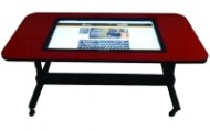 """NEC 46"""" w/ Height & Tilt Adjustable Table (Red)"""